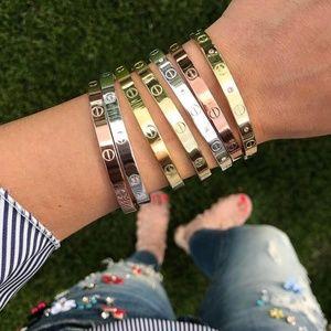 Screw love bracelet Simple Love bangle Silver